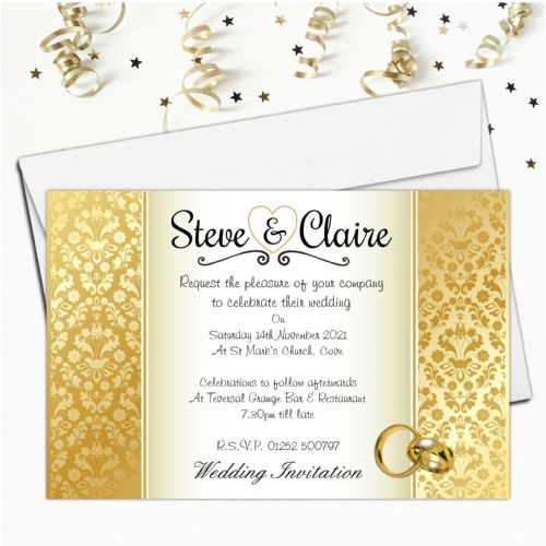10 Personalised Wedding Invitations Day/Evening N35